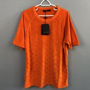 Louis Vuitton Men Orange Towel Fabric T-Shirt